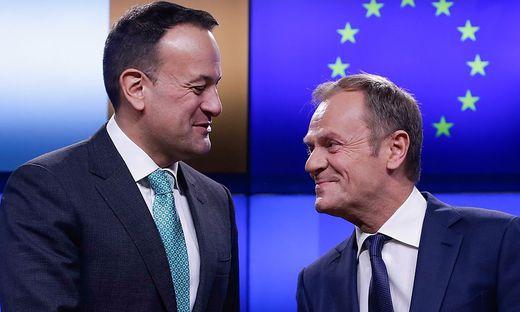 Irlands Premier Leo Varadkar mit EU-Präsident Donald Tusk
