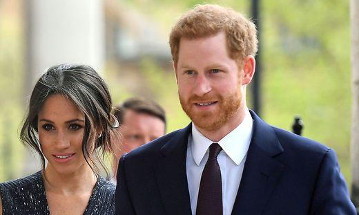 Prinz Harry mit seiner Ehefrau Meghan