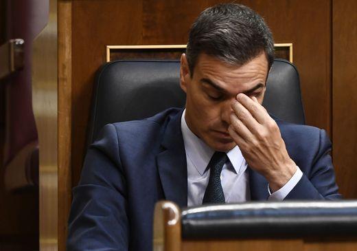 Gescheitert: Ministerpräsident Sánchez bei der Abstimmung im Madrider Parlament