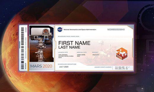 Neues NASA-Angebot: Den eigenen Namen zum Mars schicken