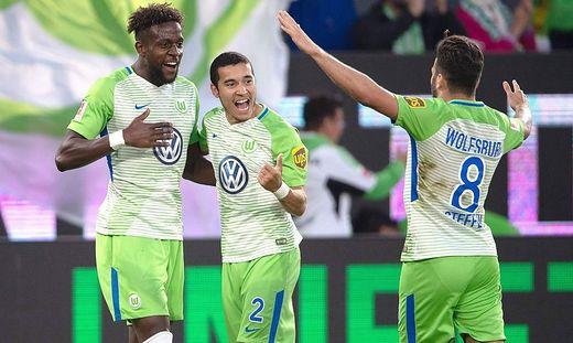 Wolfsburger jubeln