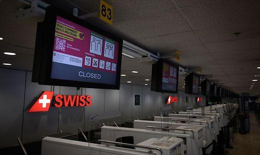 Swiss-Schalter am Flughafen Zürich