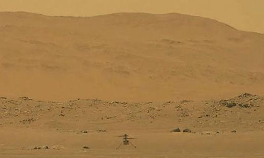 Die Drohne auf dem Roten Planeten