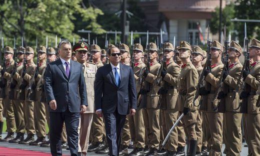 Viktor Orbán mit Ägyptens Präsident Abdel Fattah el-Sissi 2015 in Budapest