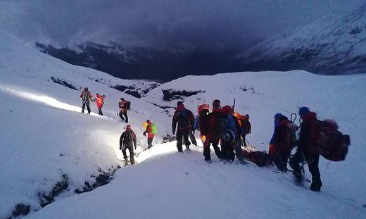 Schwieriger Einsatz für die Bergretter aus Rauris und Fusch