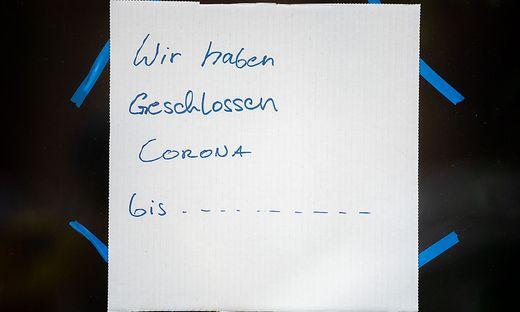 ++ THEMENBILD ++ CORONA: GASTRONOMIE / HANDEL / LOCKDOWN
