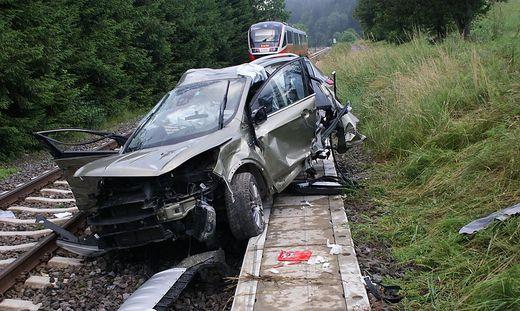 Das Auto wurde komplett zerstört