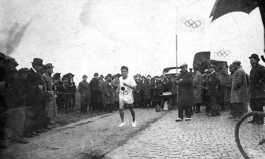 Shizo Kanakuri, hier bei seinem zweiten Olympia-Start 1924