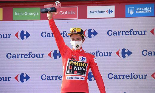 03-09-2021 Vuelta A Espana; Tappa 19 Tapia - Monforte De Lemos; 2021, Jumbo - Visma; Roglic, Primoz; Monforte De Lemos;