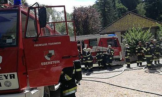 Die Feuerwehr Eberstein war auch im Brandeinsatz