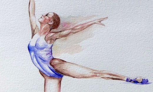 Balletttänzerin, gezeichnet von Christina Baumgartner