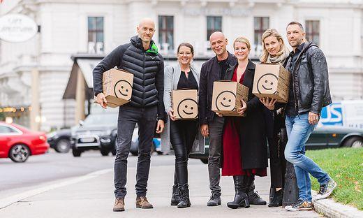 Roland Fink,  Barbara Unterkofler und Christoph Schreiner sowie Sophie Ryba (Cosmeterie), Antonia Stubenberg (Babauba) und Herbert Zerche (9Weine)