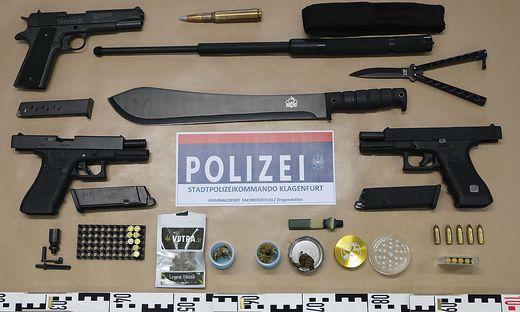 Die sichergestellten Waffen