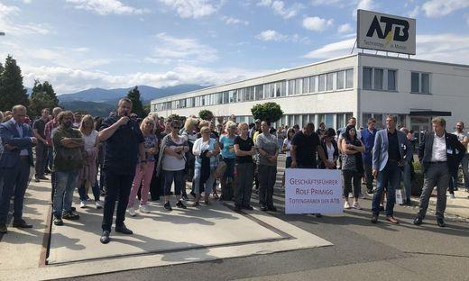 Am Donnerstag (6. August) wurde am ATB-Gelände demonstriert
