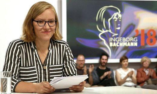 Raphaela Edelbauer beim Bachmannwettbewerb 2019