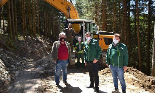 """Besichtigung des Bauprojektes """"Zeltschachberg"""" in Friesach"""