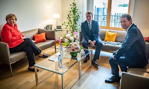 Dreiergipfel: Merkel, Macron, Kurz