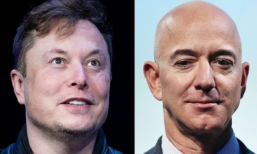 Tesla-Boss Elon Musk und Amazon-Gründer Jeff Bezos