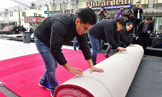 US-ENTERTAINMENT-FILM-OSCARS-RED CARPET ROLL-OUT