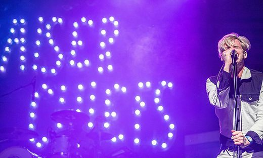 Ricky Wilson, Sänger der Kaiser Chiefs, beim Konzert im Orpheum
