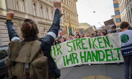 Auch in Graz wurde am Freitag für besseren Klimaschutz  demonstriert