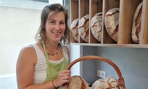 Irina Hofbauer im Bauernladen in Mürzzuschlag
