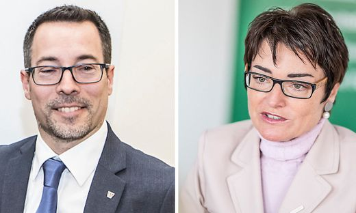 Markus Malle und Beate Prettner im Clinch