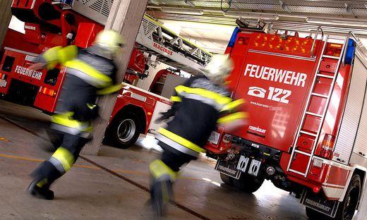 Mit zwei Fahrzeugen und zehn Mann rückte die Feuerwehr Spittal aus