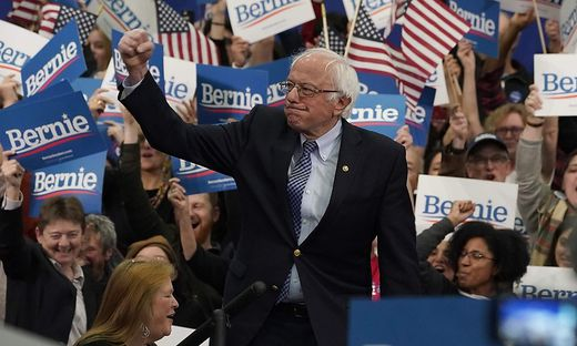 Bernie Sanders feiert in New Hampshire