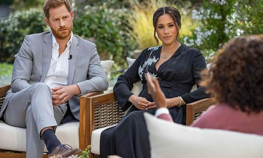 Herzogin Meghan und Prinz Harry beim Interview mit Oprah Winfrey