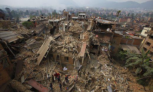 Im April kam es in Nepal zu einer Katastrophe