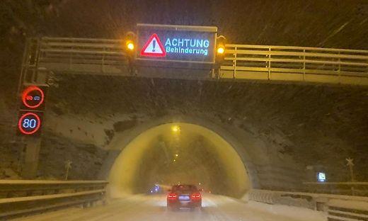 Auf der Pack werden über Nacht bis zu 15 Zentimeter Schnee erwartet