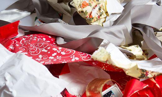 15 Prozent mehr Müll fällt in der Regel zu Weihnachten an