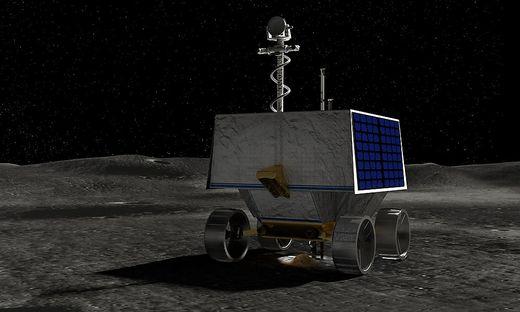 Der Rover in einer computergenerierten Darstellung