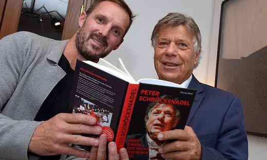 Autor Florian Madl mit Peter Schröcksnadel