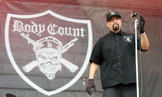 Rapper Ice-T bei einem Auftritt bei Nova Rock 2018 im Burgenland