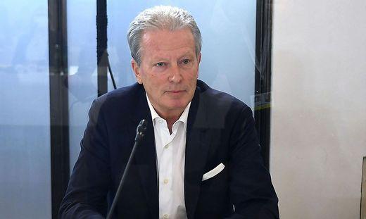 Reinhold Mitterlehner, damals ÖVP-Chef, im Ibiza-U-Ausschuss