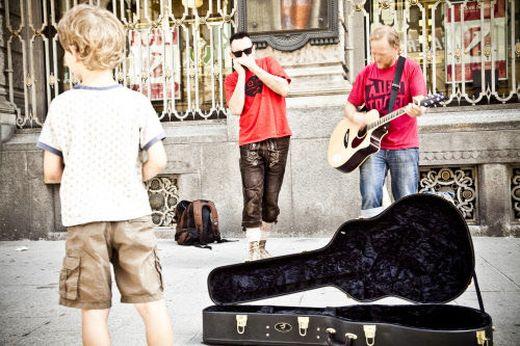 Straßenmusiker bringen Leben in eine Stadt: Auch die Uptown Monotones waren schon auf dieser Bühne.