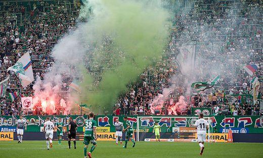 Rapid-Fans sind in der Innenstadt von Bratislava nicht erwünscht