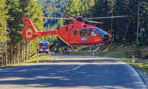 Der Mann wurde mit dem Notarzthubschrauber in das Krankenhaus Lienz geflogen