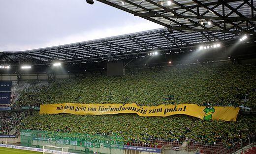 Der bislang letzte und beeindruckende Auftritt der Rapid-Fans in Klagenfurt im Juni 2017
