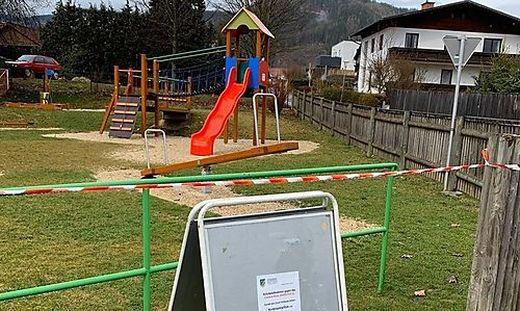 In St. Marein sind Spielplätze bis auf Weiteres gesperrt