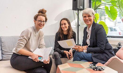 Klaudia Bachinger, Carina Roth und Susanne Stuppacher von WisR