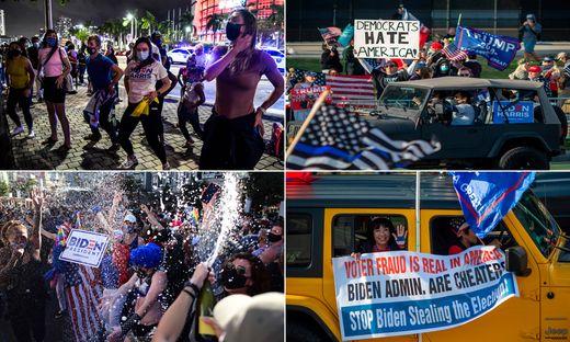 Das tanzende und das zornige Amerika: Die einen feiern - die anderen demonstrieren - die USA sind gespalten wie schon lange nicht mehr