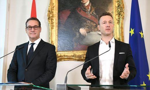 Strache und Blümel arbeiten an einer Überarbeitung des Fernsehexklusivrechtegesetzes.