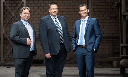 Neues Vorstandstrio der Breitenfeld Edelstahl AG:  Jürgen Frank, Gilbert Krenn, und Andreas Graf