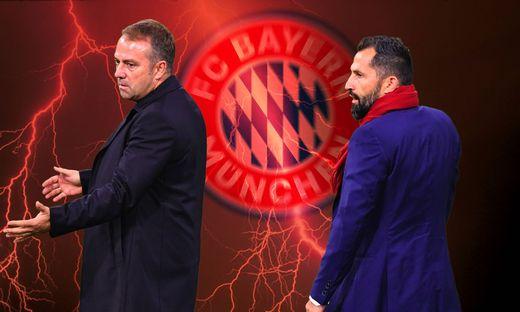 FOTOMONTAGE: Machtkampf zwischen Hans Dieter Flick (Hansi ,Trainer Bayern Muenchen) und Hasan SALIHAMIDZIC (Sportvorstan