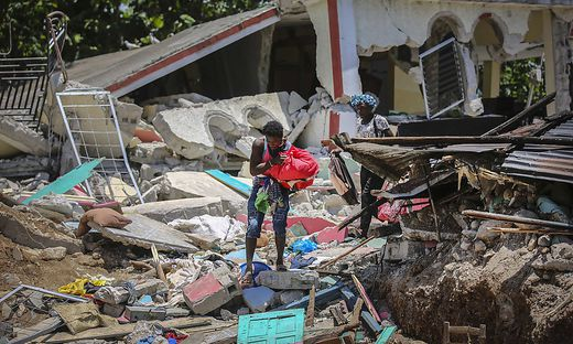 Haiti wurde von einem schweren Erdbeben getroffen