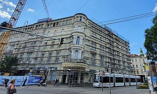 Das Haus der Steiermärkischen, in dem Zara noch residiert, wird gerade ausgebaut