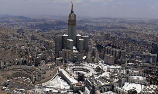 Der Blick auf das saudi-arabische Mekka